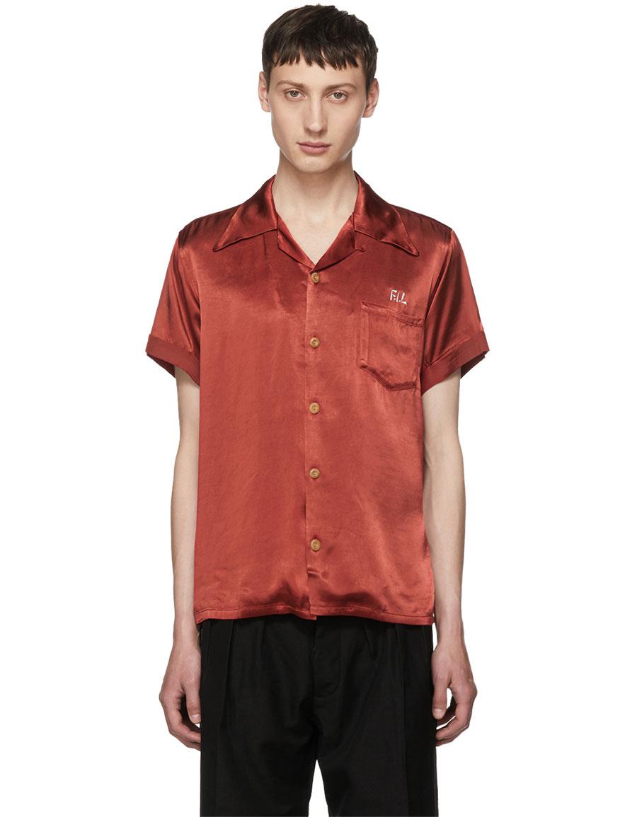 VISVIM Red 'Peerless' Irving Shirt