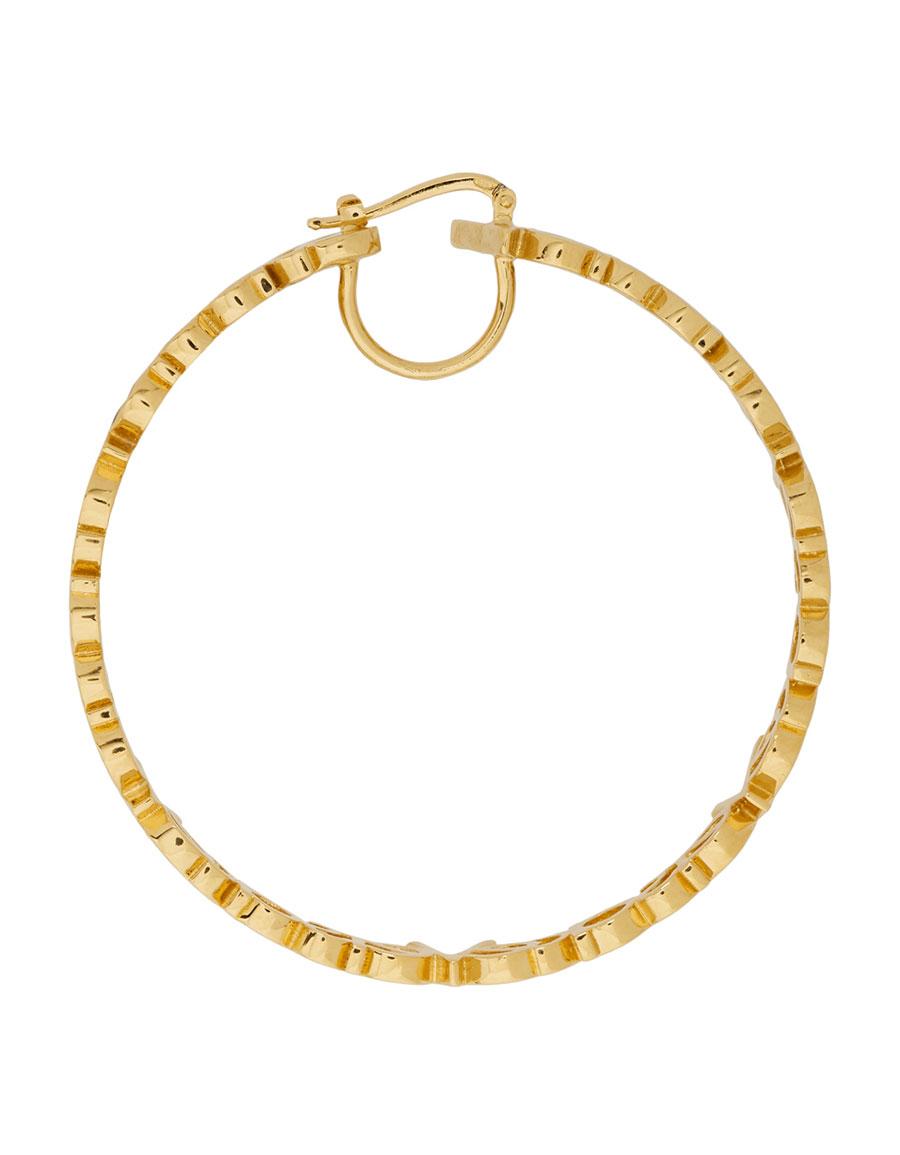 VERSACE Gold Large Hoop Earrings