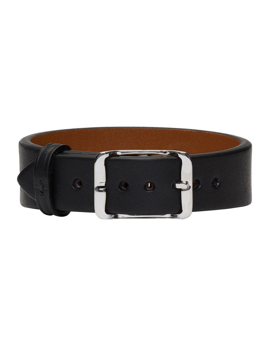 MAISON MARGIELA Black Leather Belt Bracelet