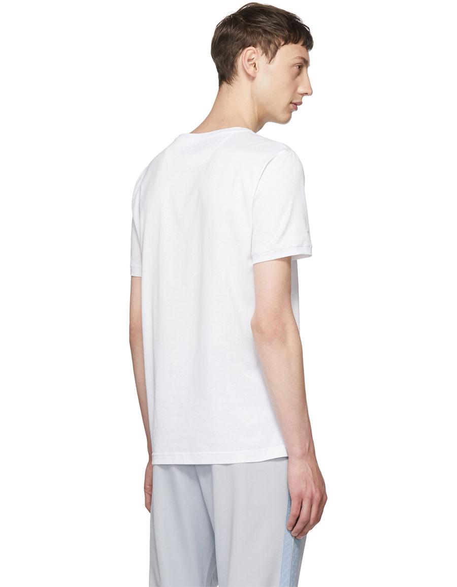 FENDI White 'Roma' Logo T Shirt