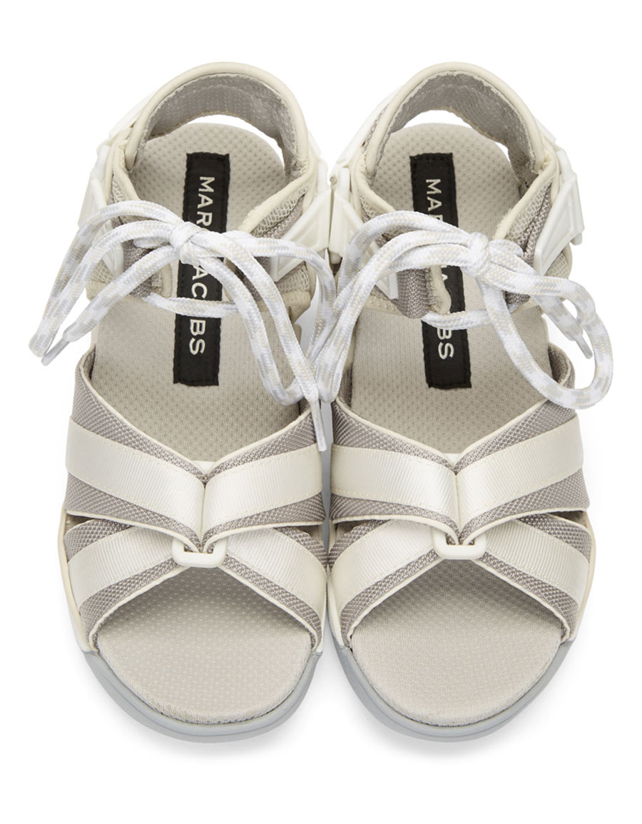MARC JACOBS Off White & Grey Somewhere Sport Sandals