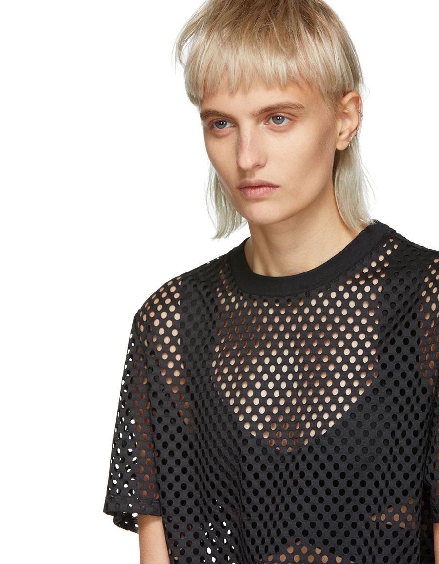 OPENING CEREMONY Black Mesh T Shirt