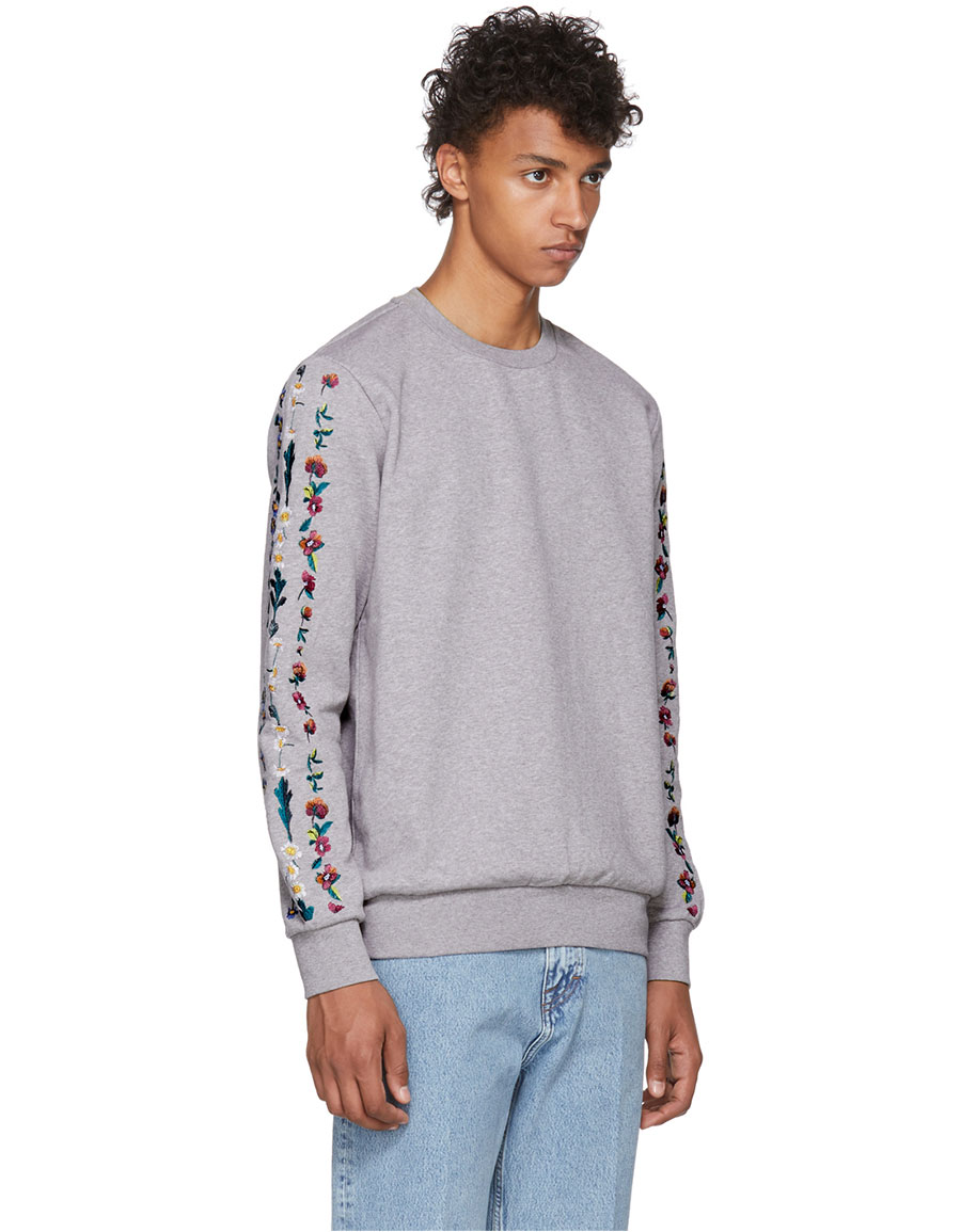 PAUL SMITH Grey Daisy Chain Sweatshirt