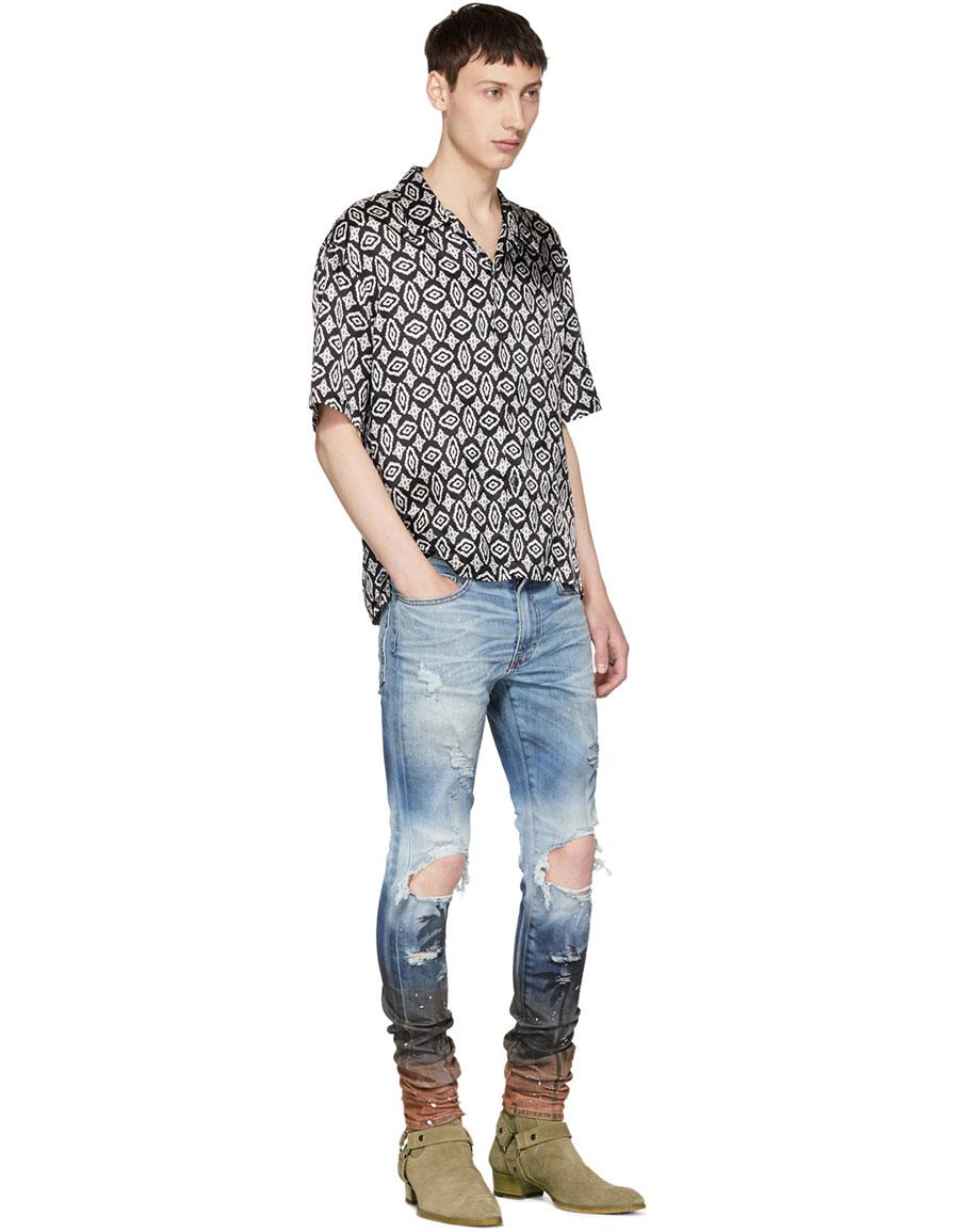 AMIRI Blue Palm Thrasher Jeans