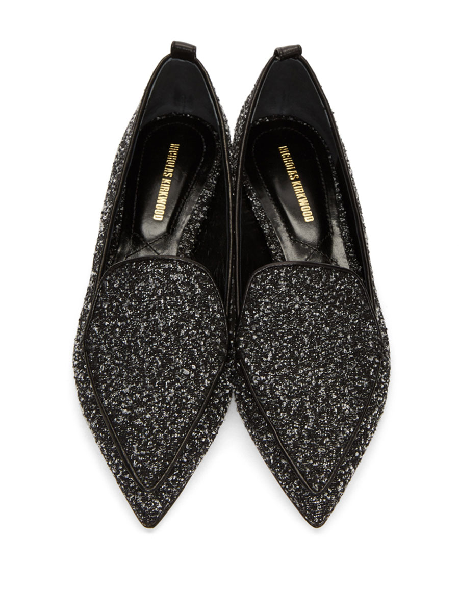 NICHOLAS KIRKWOOD Black & White Beya Loafers