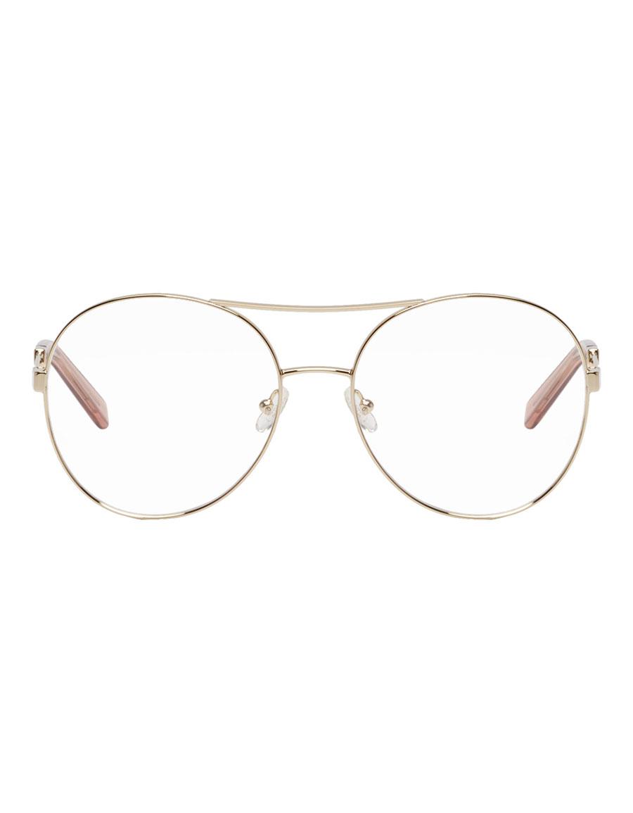 CHLOÉ Gold Jacky Aviator Glasses