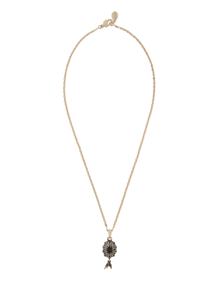 ALEXANDER MCQUEEN Gold Pearl Necklace