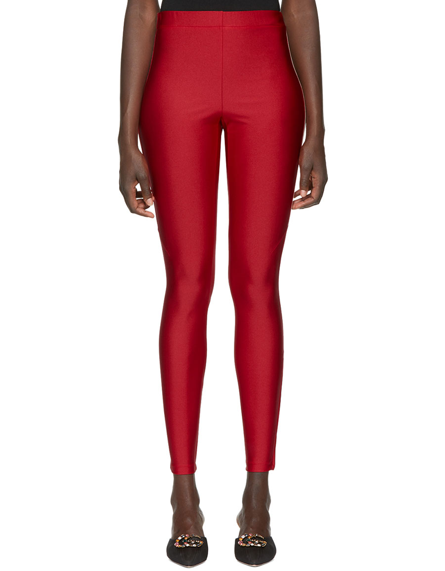 GUCCI Red Logo Band Leggings