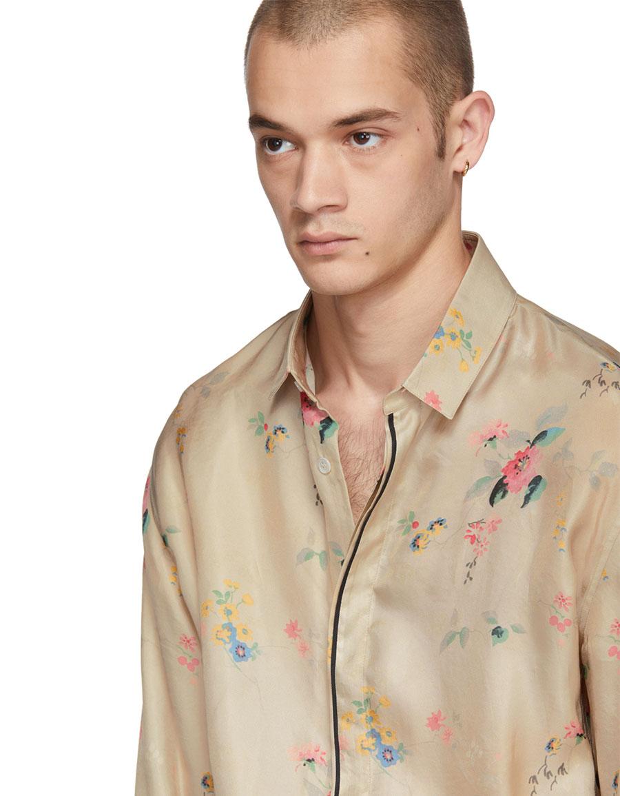 HAIDER ACKERMANN Beige Freesia Classic Shirt