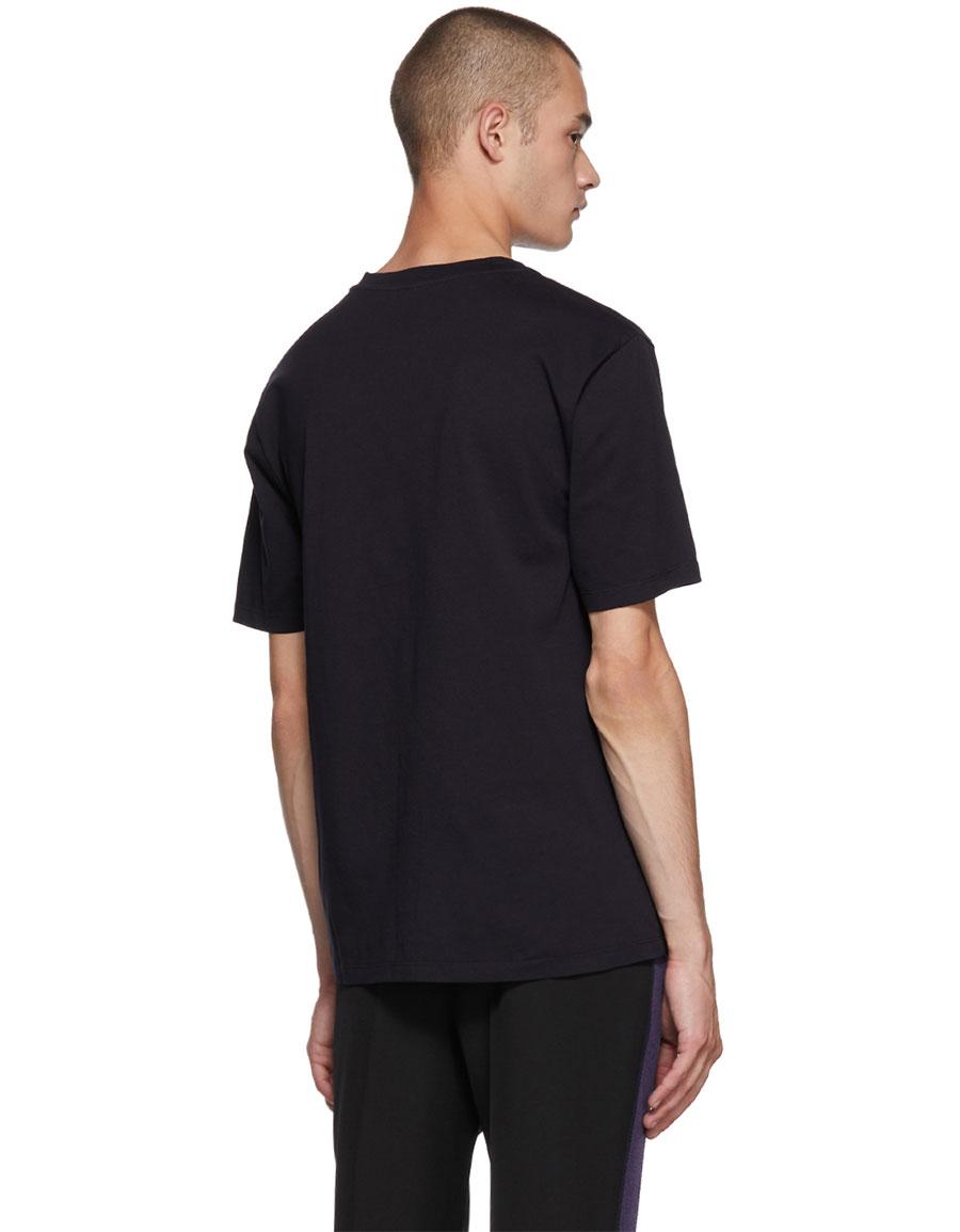 LOEWE Navy Anagram Cut T Shirt