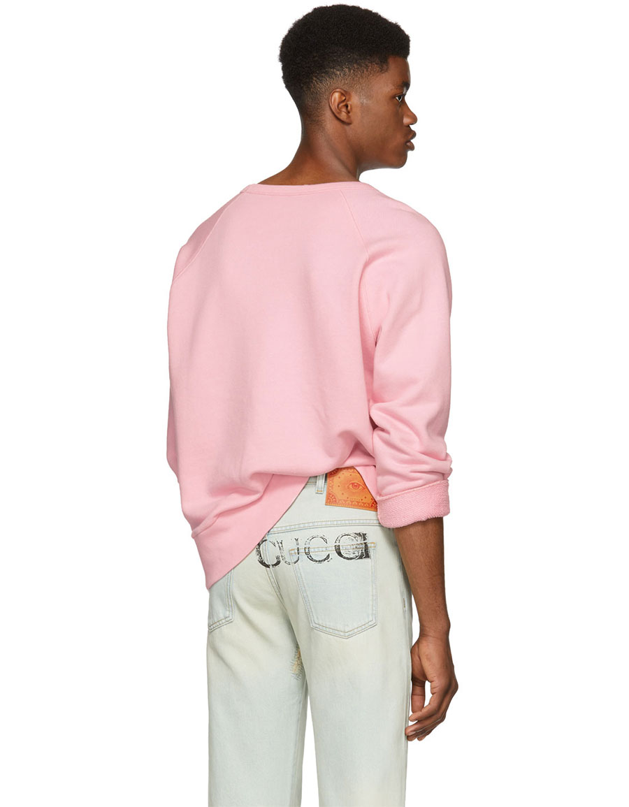 GUCCI Pink Logo Sweatshirt