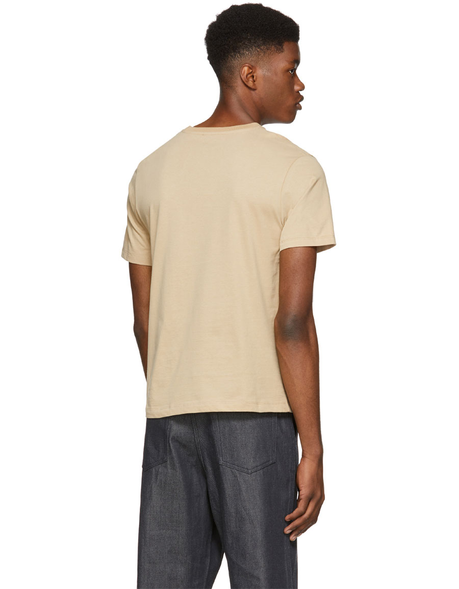 JW ANDERSON Brown Foot Print T Shirt