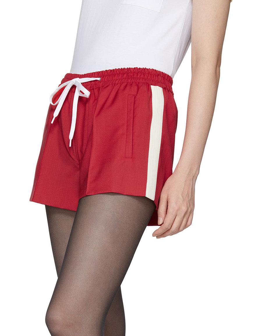 MIU MIU Red Drawstring Shorts