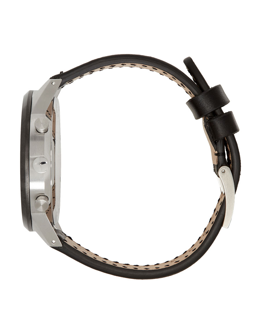 UNIFORM WARES Black Leather C41 Chronograph Watch