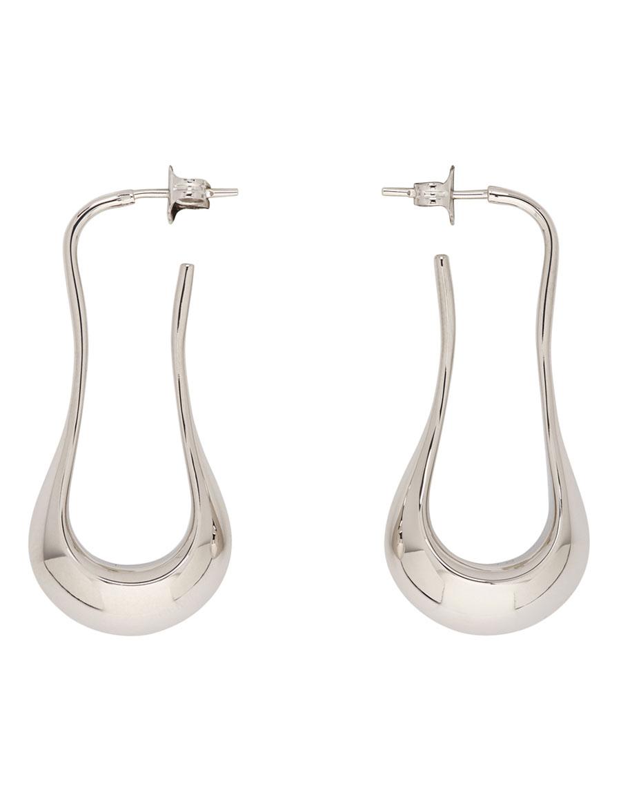LEMAIRE Silver Short Drop Earrings