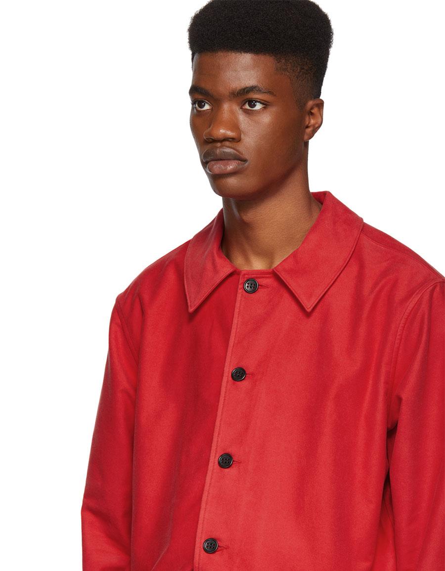 SIMON MILLER Red Brushed Moleskin Jacket
