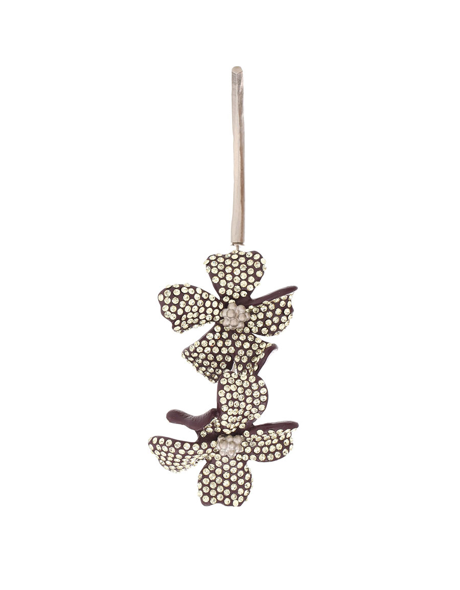 ACNE STUDIOS Embellished flower single earring