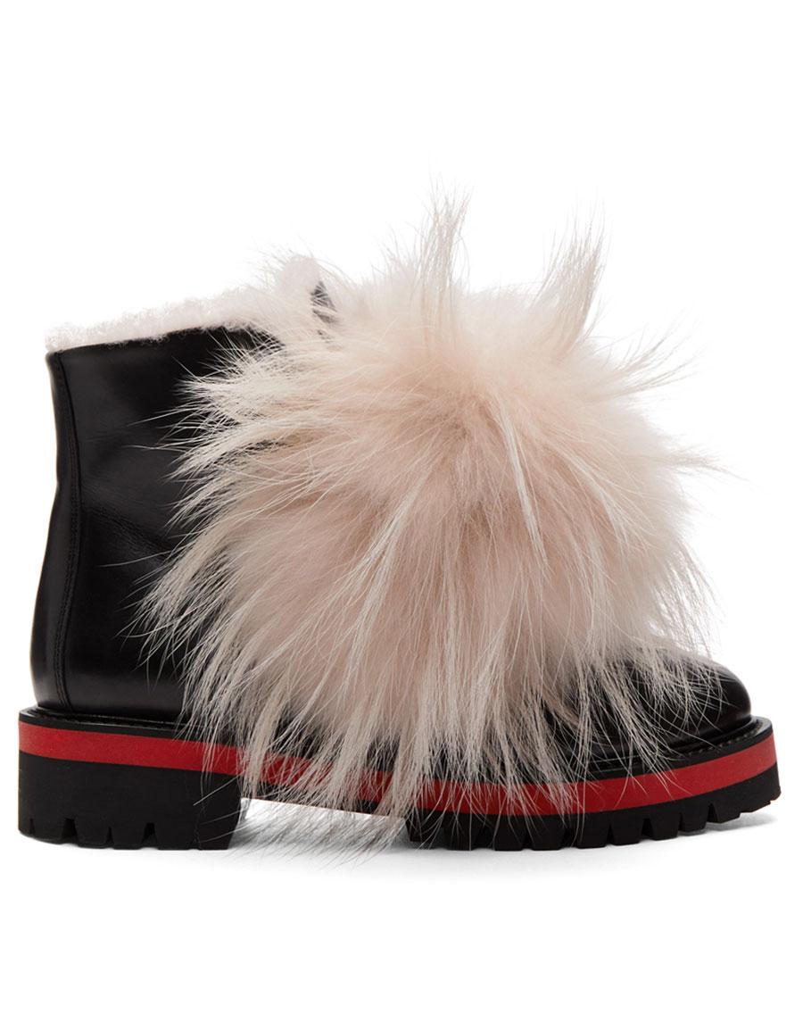 MR & MRS ITALY Black & Pink Calfskin Boots