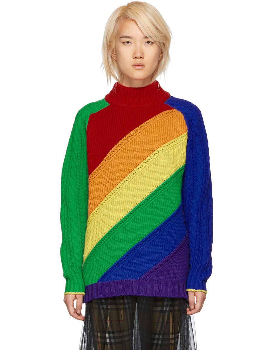BURBERRY Multicolor Rainbow Sweater