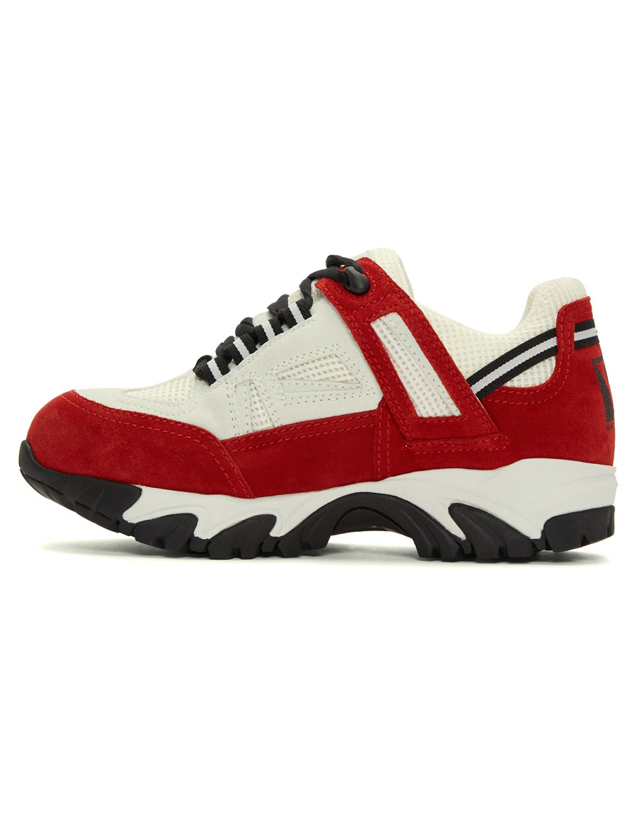 MAISON MARGIELA White & Red Security Sneakers