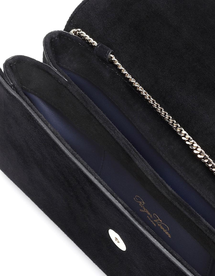 ROGER VIVIER Envelope embellished suede clutch