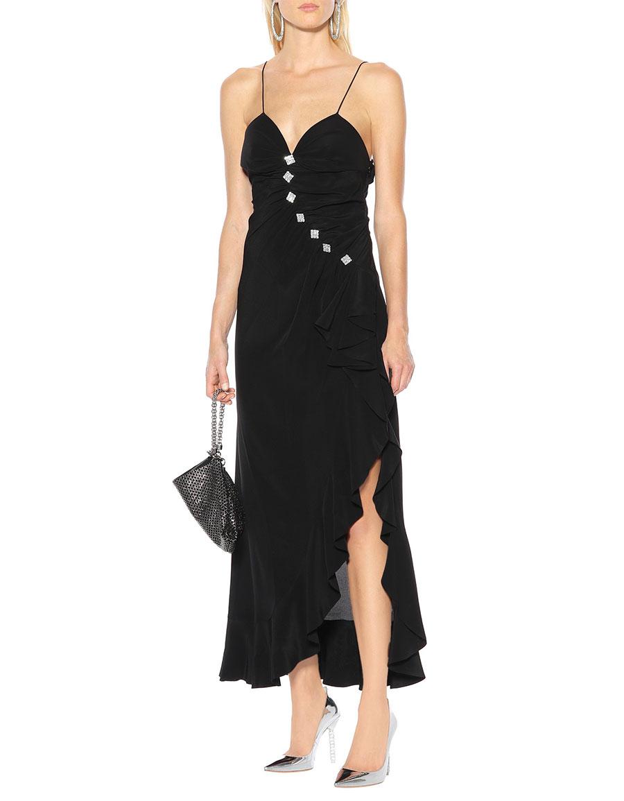 ALESSANDRA RICH Embellished silk dress