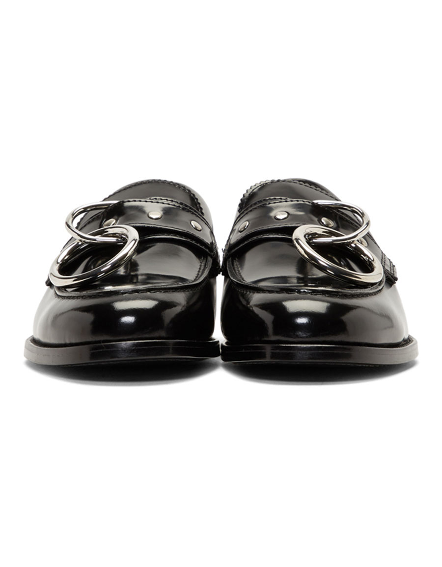 HOPE Black Patent Patty Ring Loafers