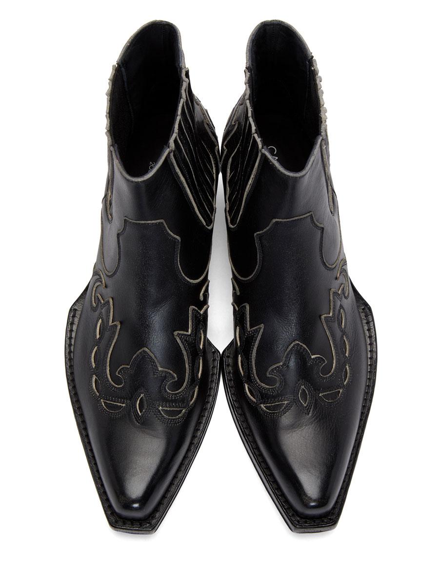 CALVIN KLEIN Black Western Chelsea Boots