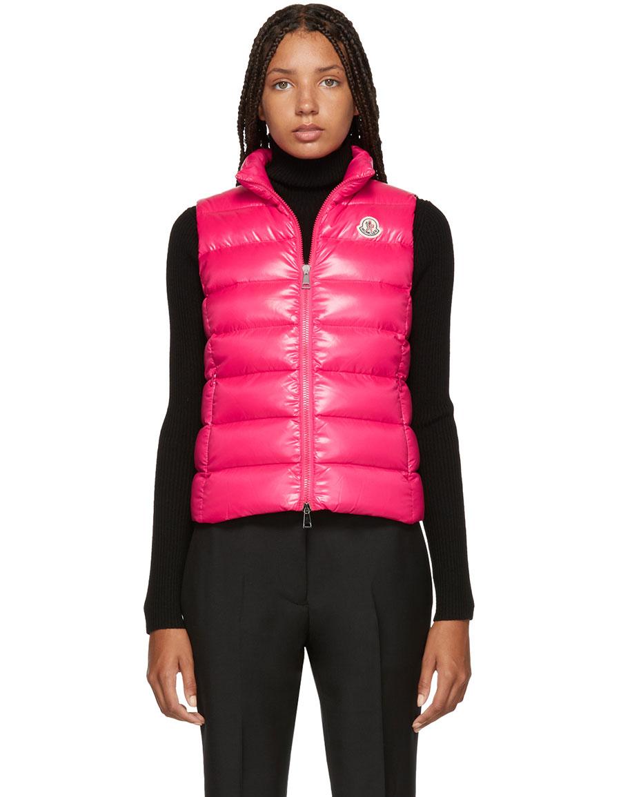MONCLER Pink Down Ghany Vest