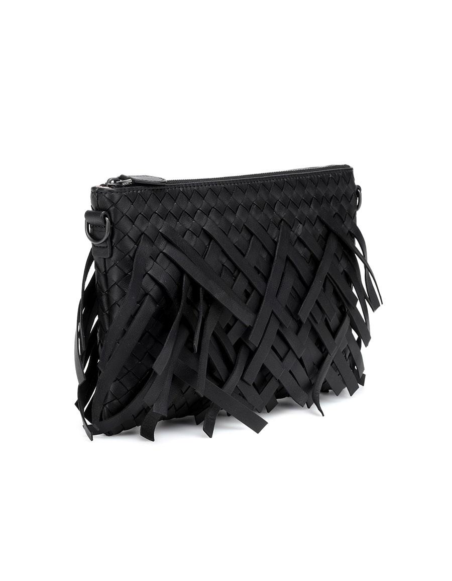 BOTTEGA VENETA Palio Fringes leather pouch