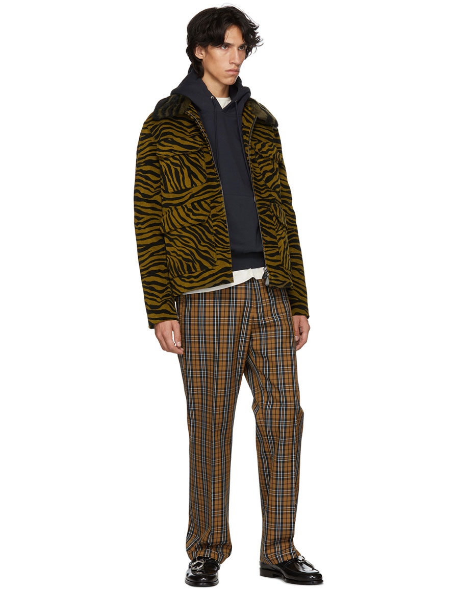 HOPE Beige & Blue Check Ric Trousers