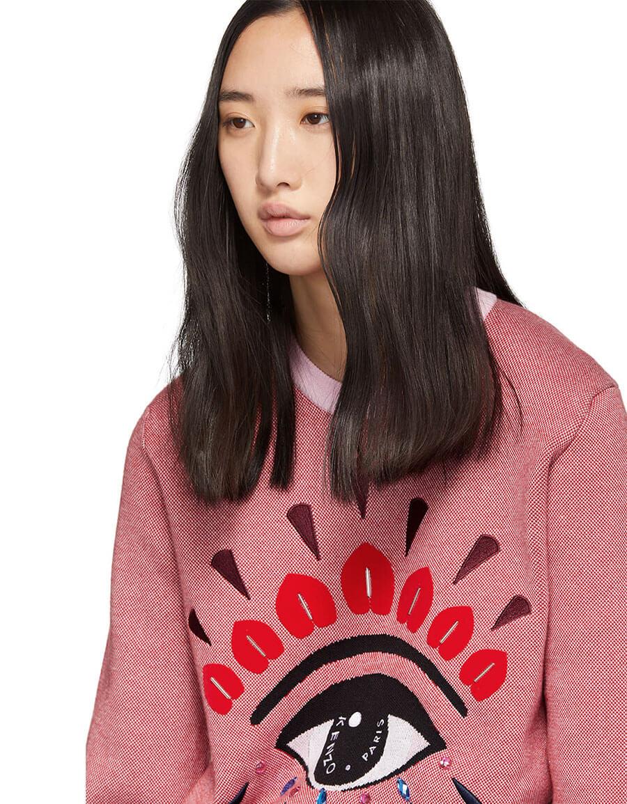 KENZO Pink & Red Eye Sweater