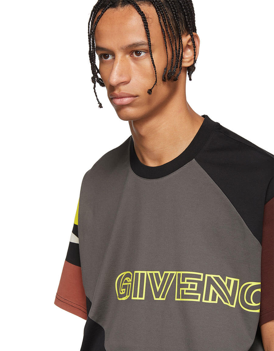 GIVENCHY Black Sporty Printed Oversized T Shirt