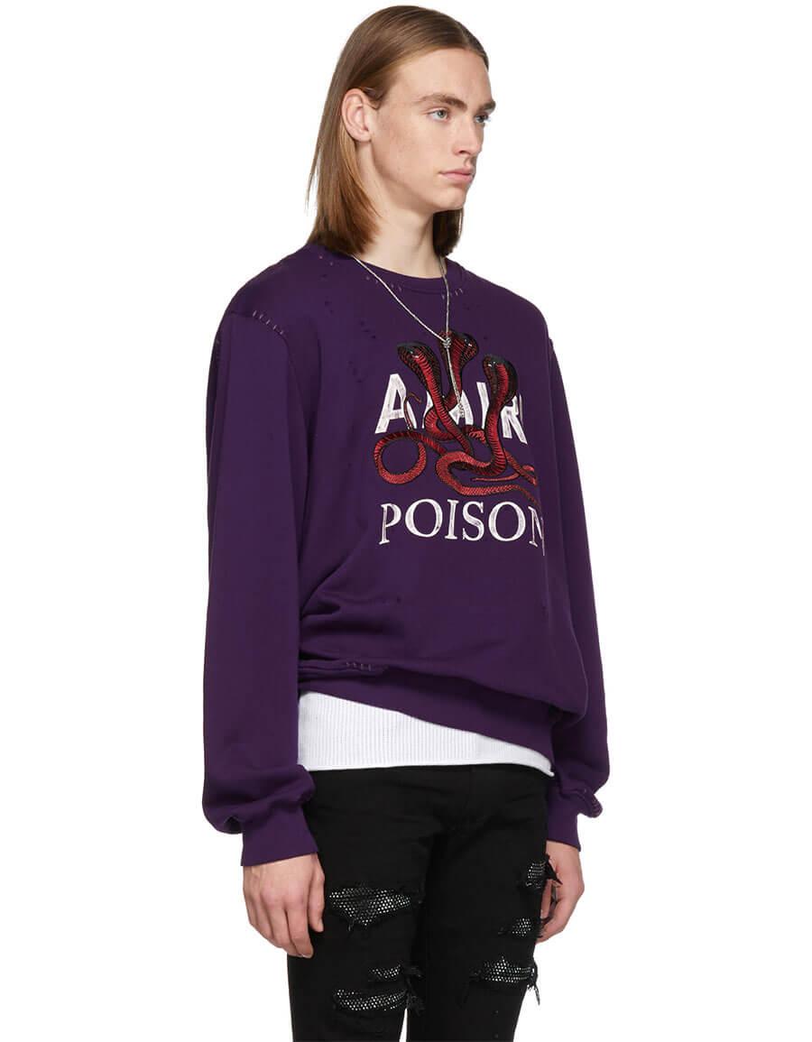 AMIRI Purple 'Poison' Sweatshirt