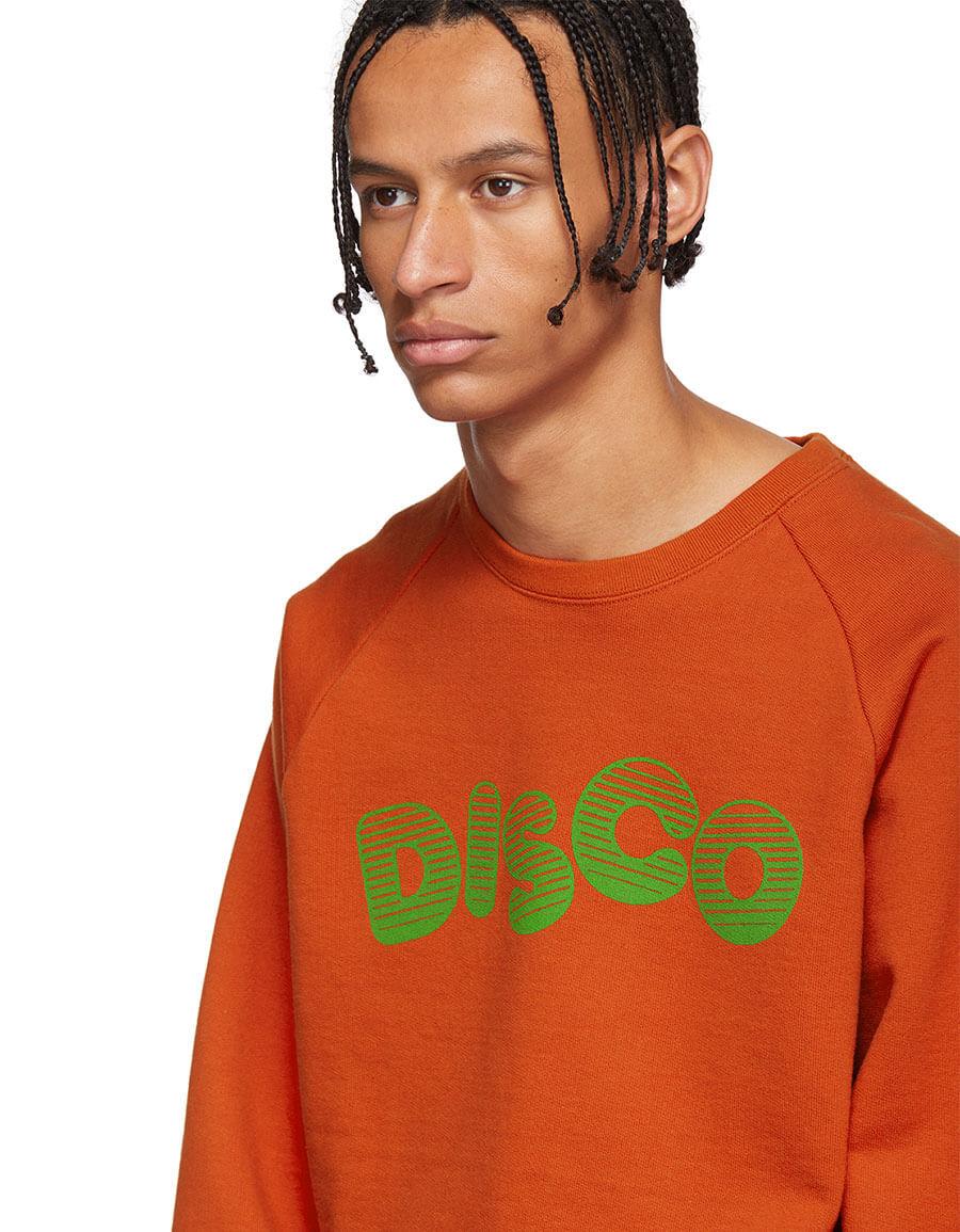WACKO MARIA Orange 'Disco' Washed Heavy Weight Sweatshirt