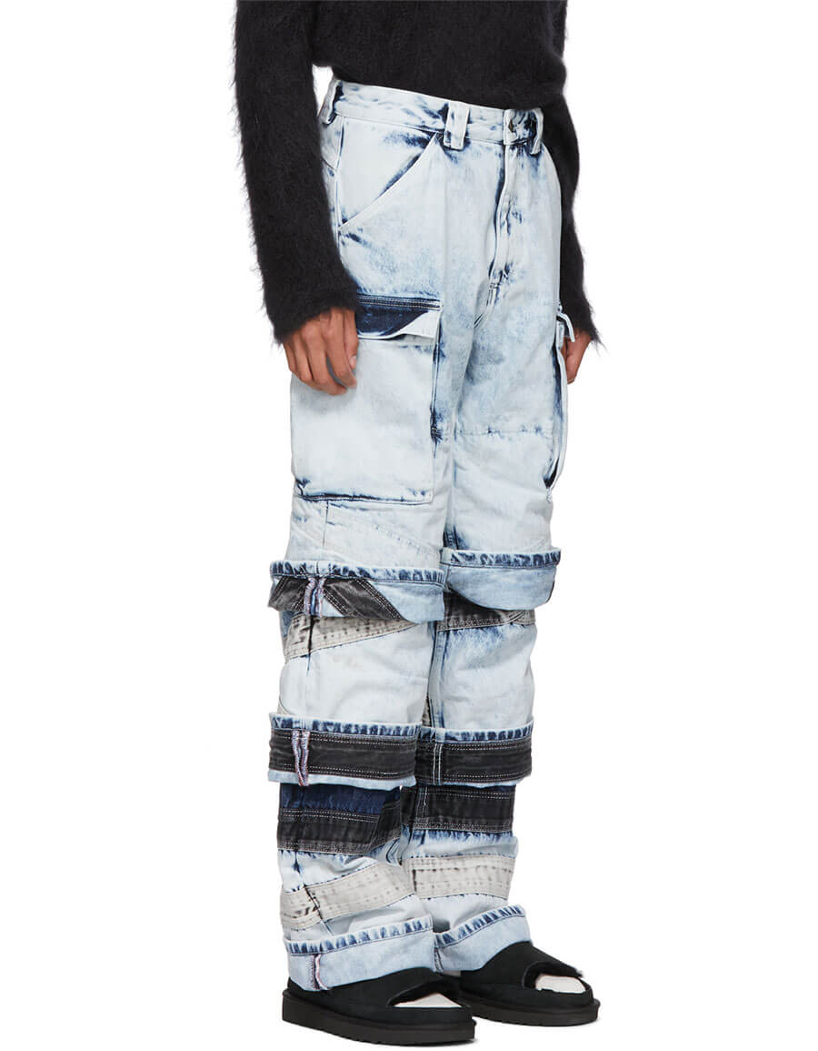 Y/PROJECT White Layered Jeans