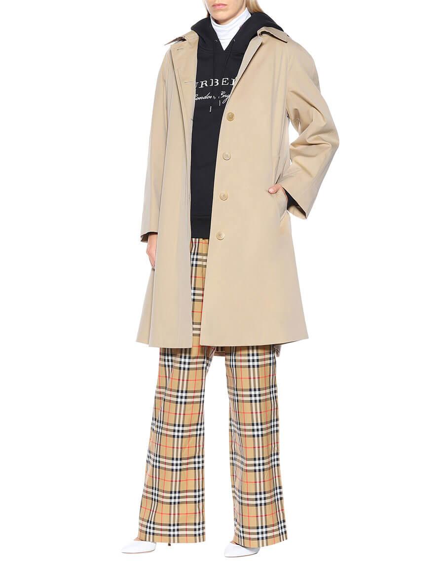 BURBERRY Oversized gabardine trench coat