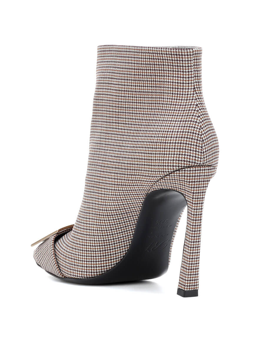 ROGER VIVIER Trompette houndstooth ankle boot