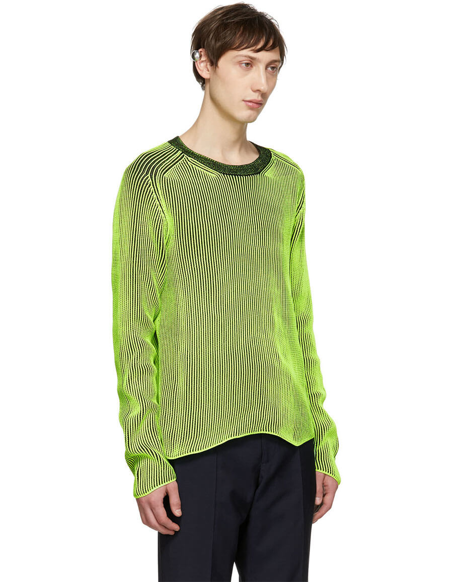 MAISON MARGIELA Reversible Green & Black Acid Pullover