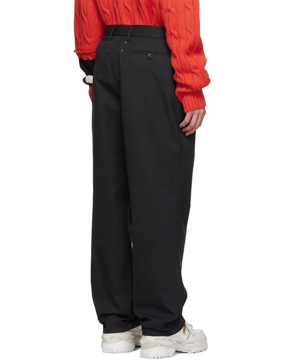 MAISON MARGIELA Blue Spliced Gabardine Trousers