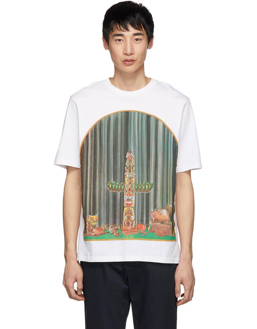 LOEWE White Totem Window T Shirt