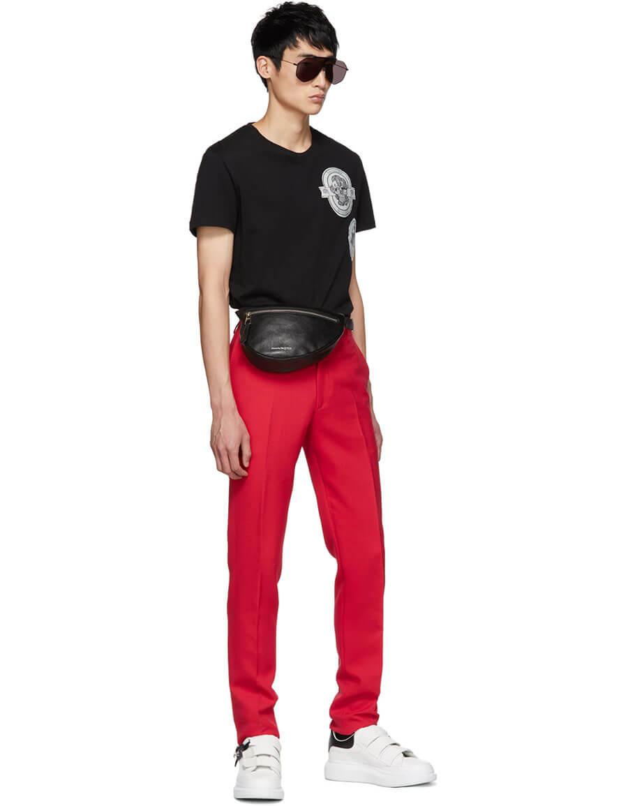 ALEXANDER MCQUEEN Black Logo Patch T Shirt