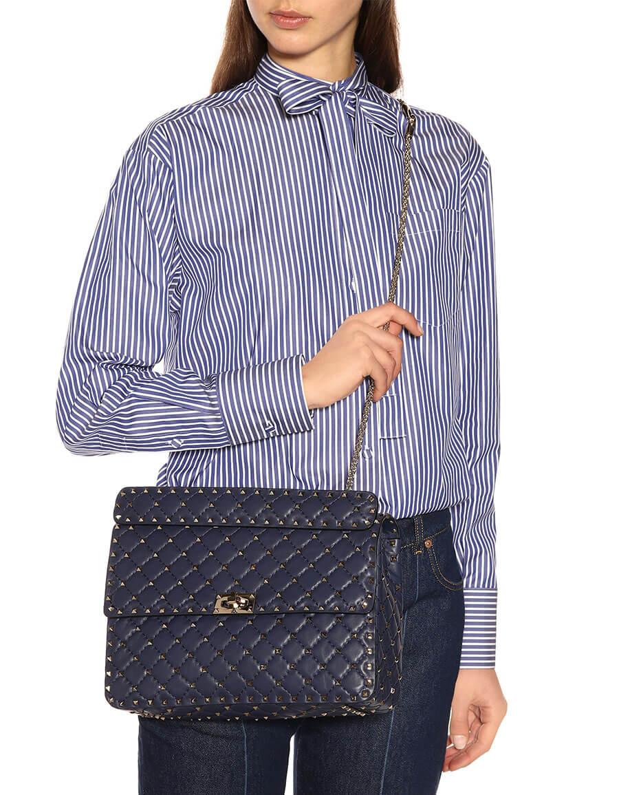 ff8a8787806 VALENTINO Valentino Garavani Rockstud Spike Large leather shoulder bag