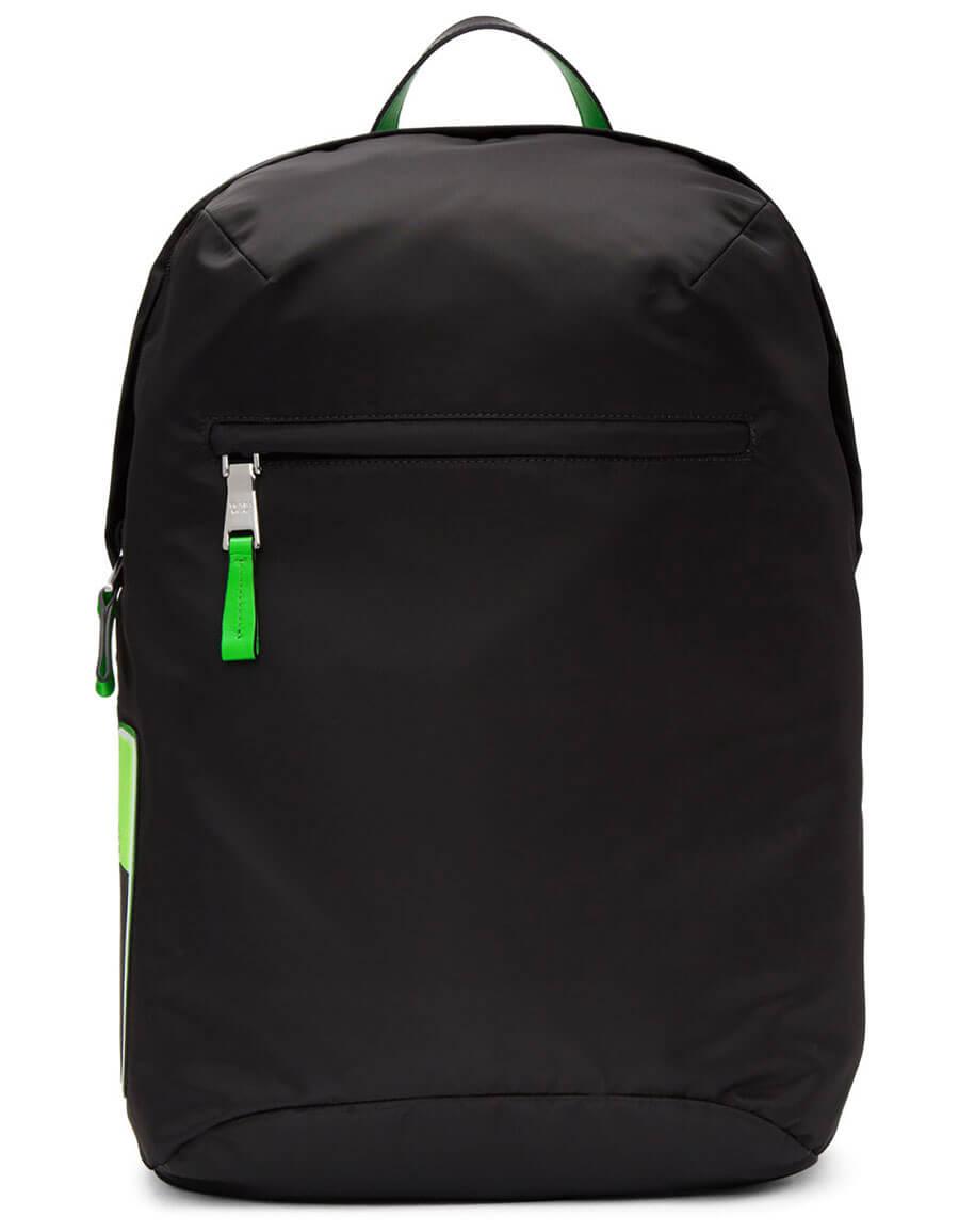 4d7dd5a385cf PRADA Black Logo Patch Backpack · VERGLE