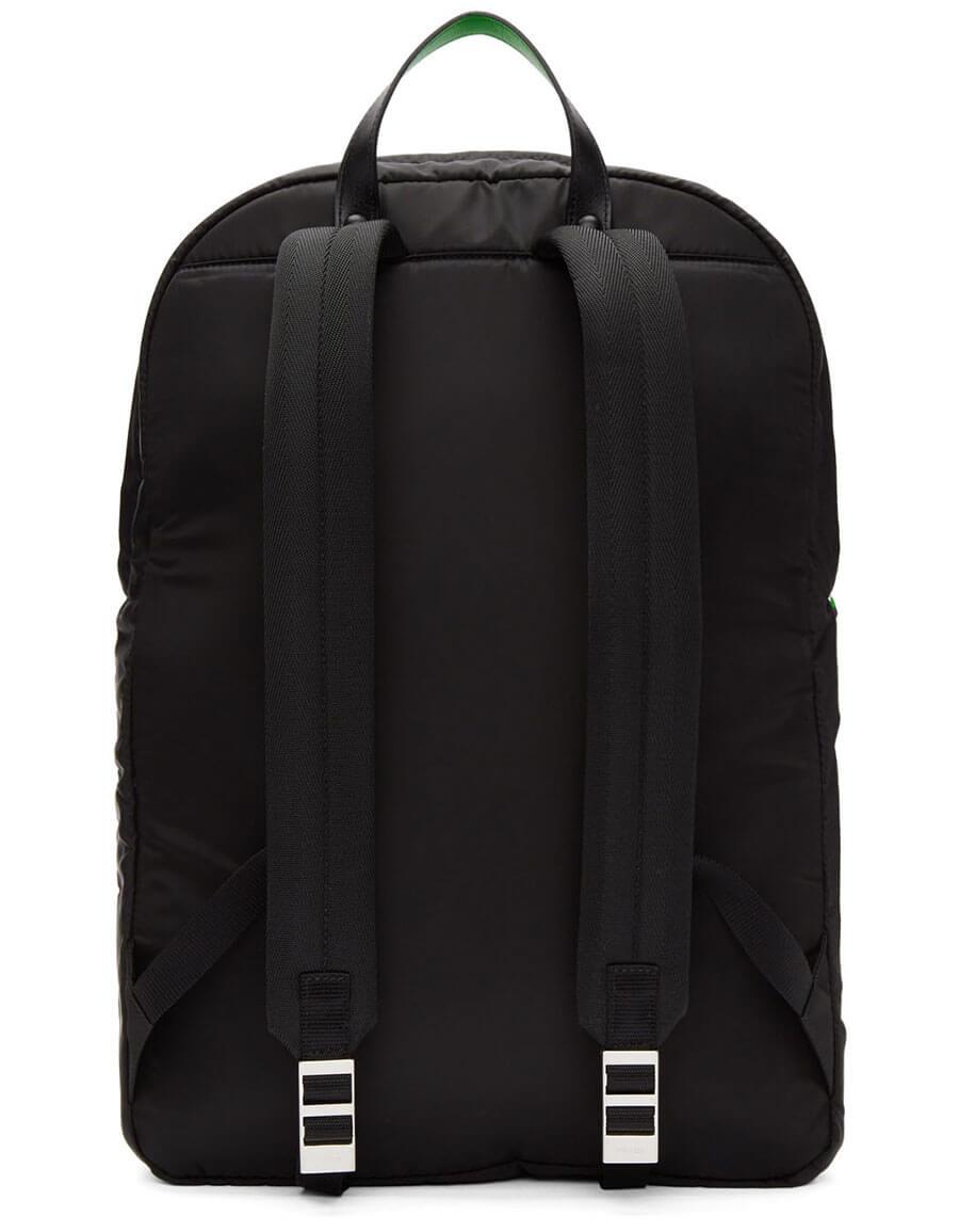 PRADA Black Logo Patch Backpack