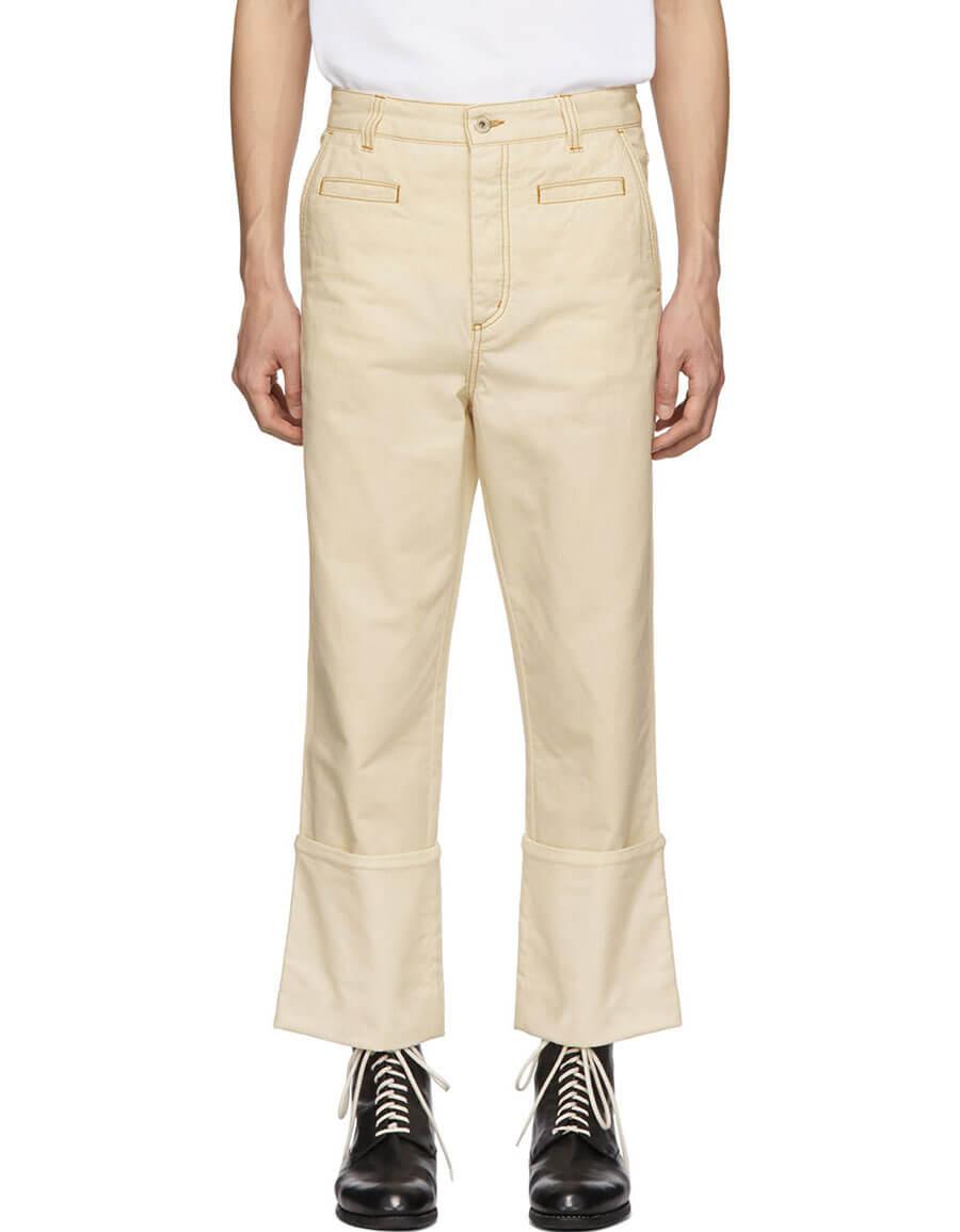 LOEWE White Fisherman Jeans