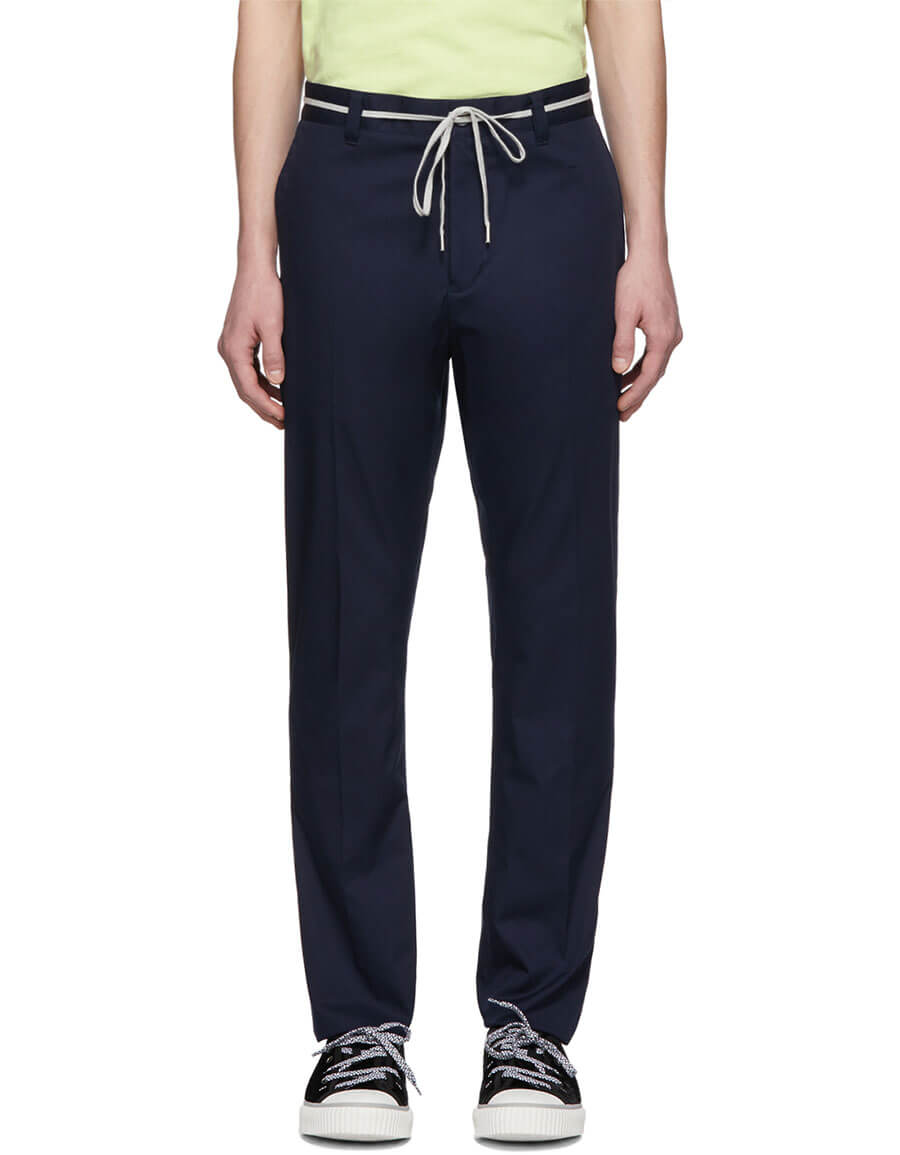 LANVIN Blue Slim Drawstring Trousers