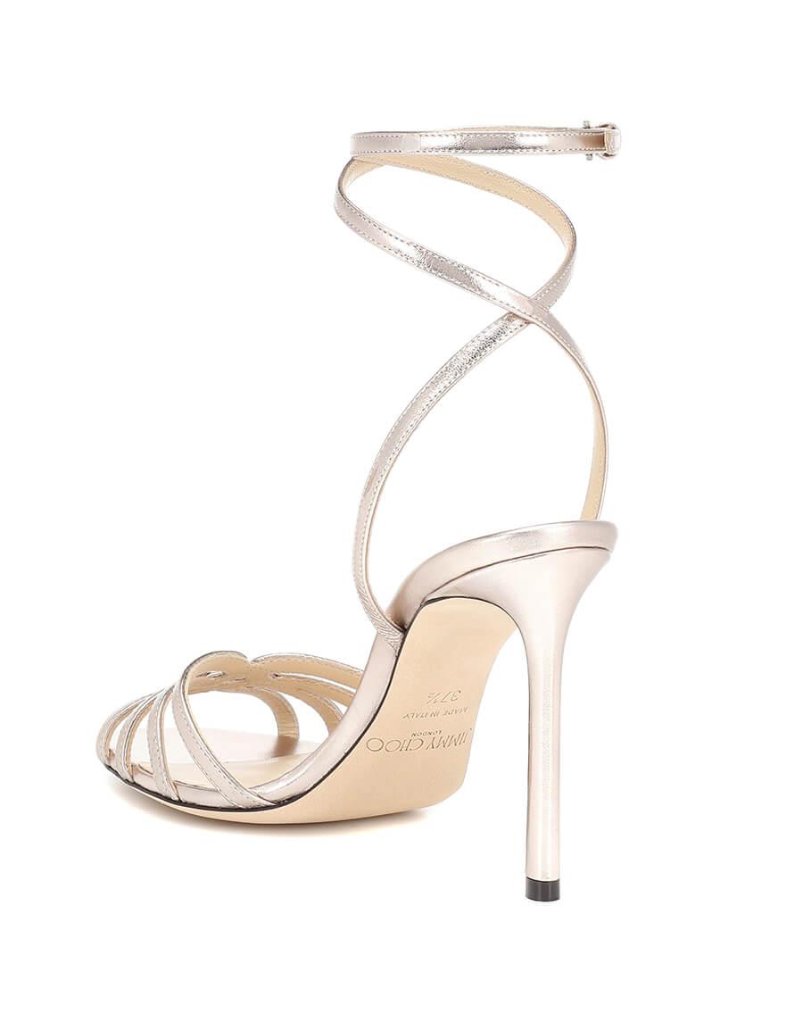 JIMMY CHOO Mimi 100 metallic leather sandals