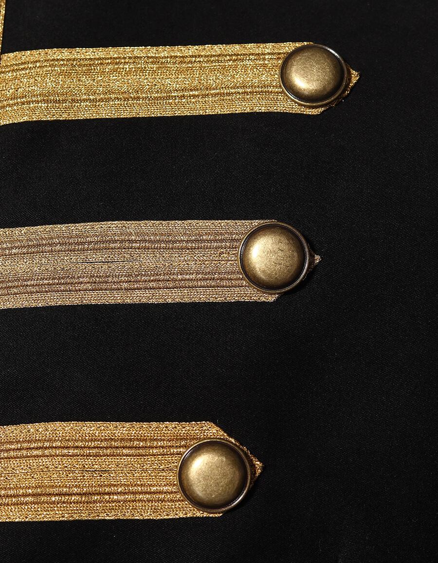 SAINT LAURENT Embroidered cotton twill jacket