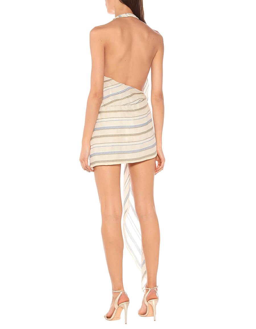 JACQUEMUS La Robe Spezia striped minidress